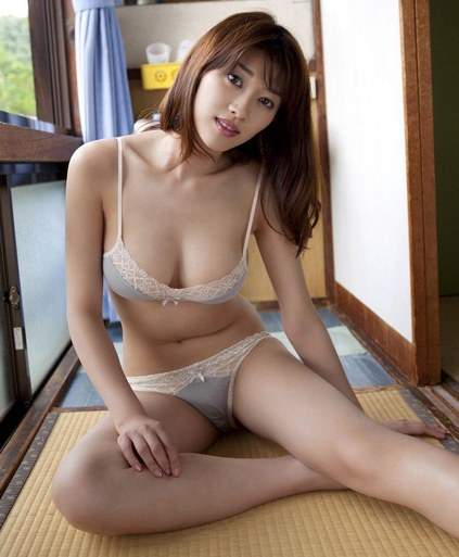 Beautiful Japanese Girl In Tight Bra Sexy Satin Panties With A Hot Body