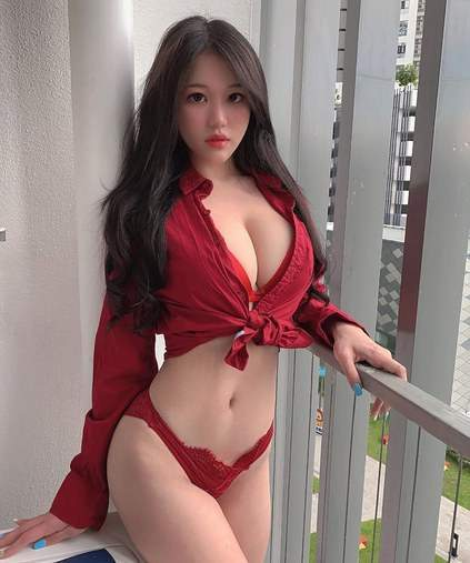 Malaysian Busty Babe In Dark Red Panties Showing Cleavage Small