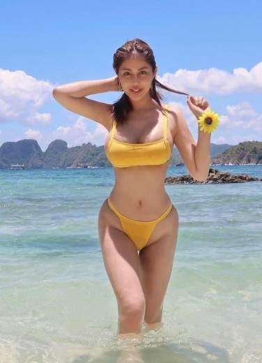 Thick Filipino Girl On A Philippines Beach Wearing A Bikini