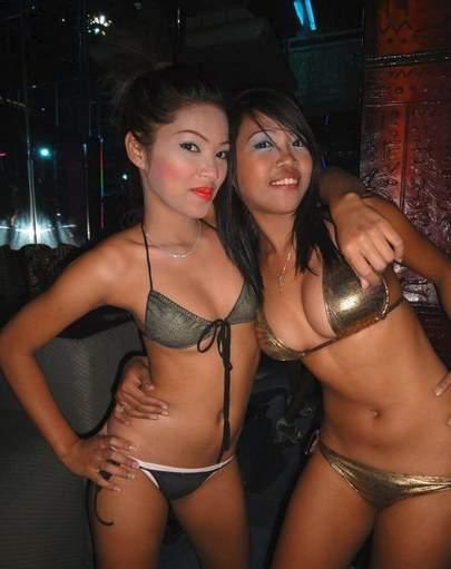Two Sexy Filipina Hotties Inside Rhapsody Bar Walking Street Angeles City