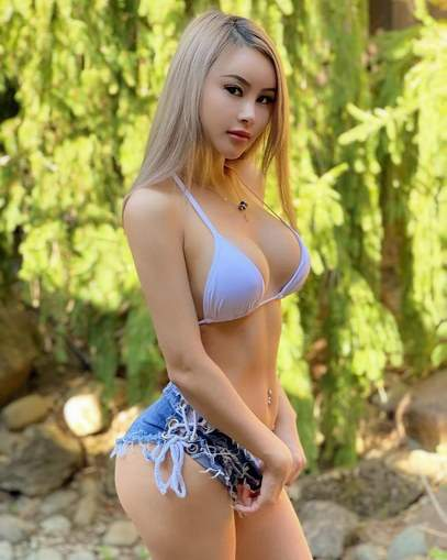 Pretty Blonde Pinay Tight Jean Shorts Nice Firm Boobs