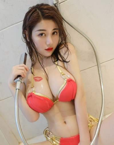 Busty Chinese Babe Massive Cleavage Getting Wet in The Shower Crop