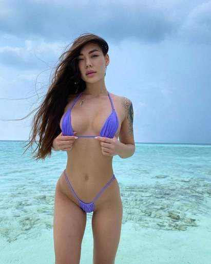 Sexy Skinny Filipina Beach Babe Skimpy Seductive Bikini Small